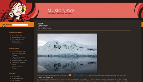 Free Music News Responsive Blogger Template