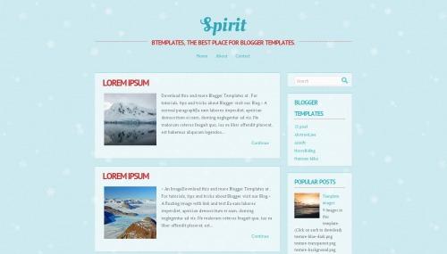 Free Spirit Responsive Blogger Template