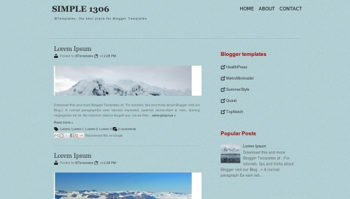 Free Simple 1306 Responsive Blogger Template