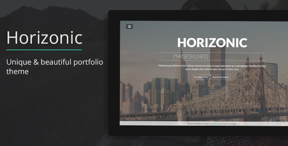Horizonic Onepage Responsive Portfolio WP Theme