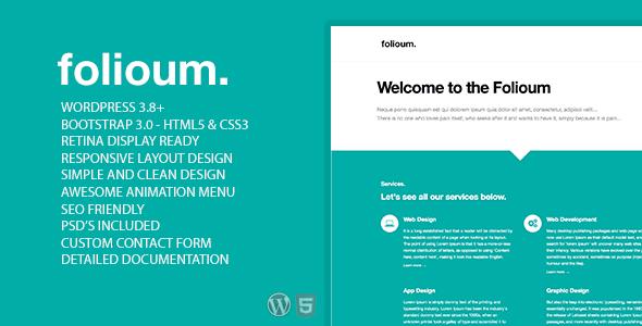 Folioum Template Responsive Portfolio Theme