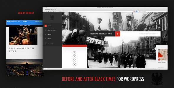 Bee And After Black Times Responsive Portfolio Theme