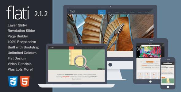 Flati Flat Bootstrap WordPress Portfolio Theme