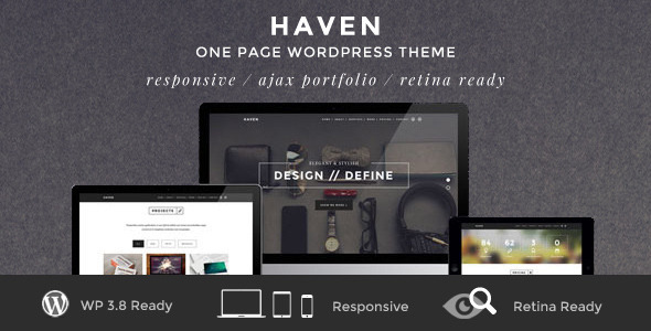 Haven Elegant One Page Responsive Portfolio Theme