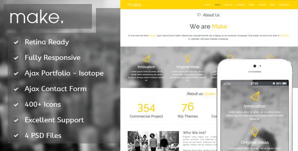 Make Onepage Responsive Portfolio WP Theme
