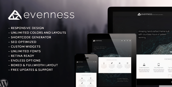 Evenness Responsive Portfolio WP Theme