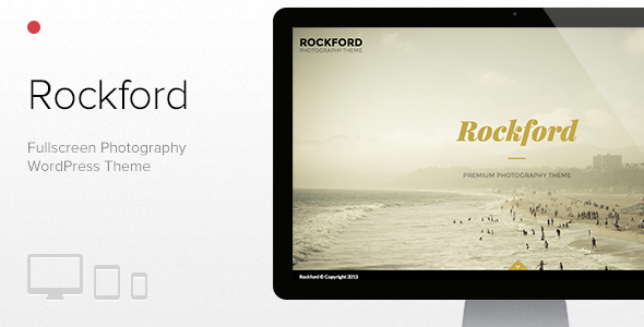 Rockd Fullscreen Photography WordPress Portfolio Theme