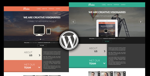 Vision One Page WordPress Portfolio Theme