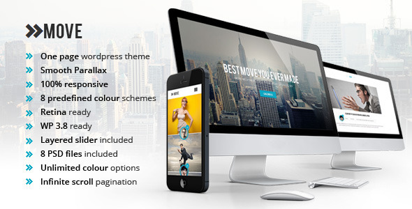Move OnePage Responsive Portfolio WP Theme