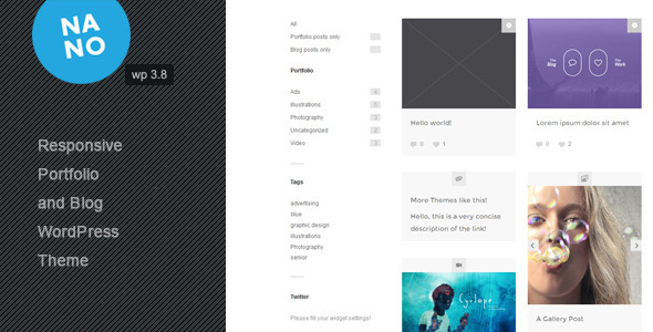 Nano and Blog Responsive Portfolio Theme