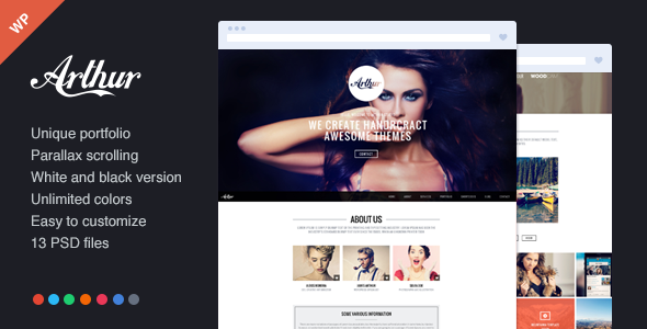 Arthur One Page and Responsive Portfolio Theme