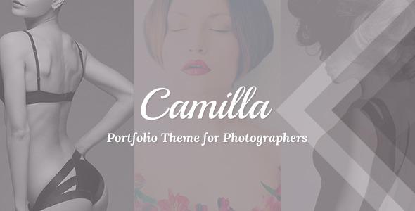 Camilla Horizontal Fullscreen Photography Responsive Portfolio Theme