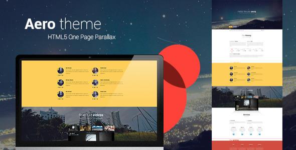 Aero One Page Responsive Portfolio WP Theme