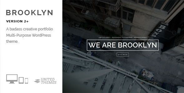 Brooklyn One Page WordPress Portfolio Theme