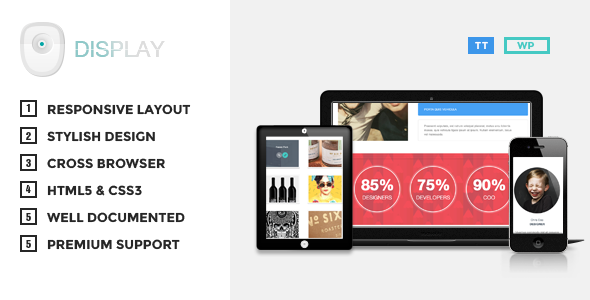 Display Responsive Portfolio Theme