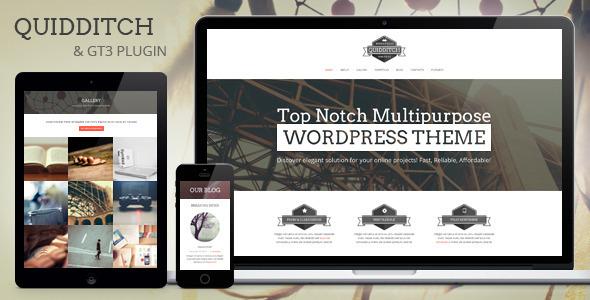 Quidditch One Page Responsive Portfolio Theme