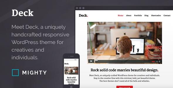 Deck Responsive Portfolio Theme