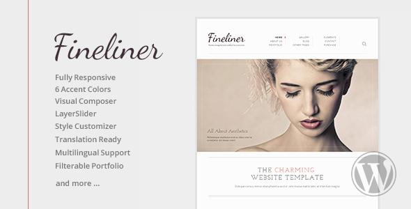 Fineliner Responsive Portfolio WP Theme