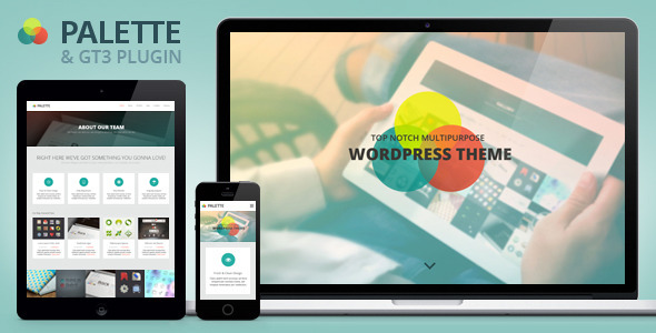 Palette One Page Responsive Portfolio WP Theme