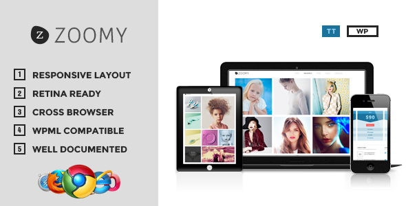 Zoomy Professional Photography WordPress Portfolio Theme