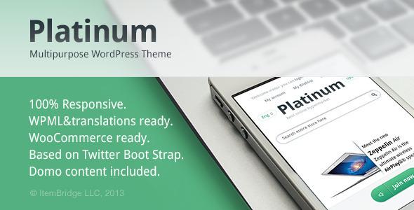 Platinum Responsive Portfolio Theme