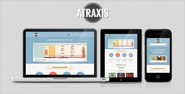 Atraxis Responsive Portfolio WP Theme