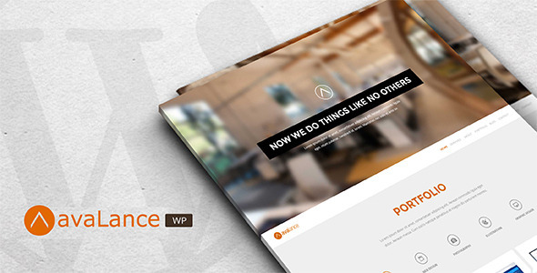 Avalance Website WordPress Portfolio Theme