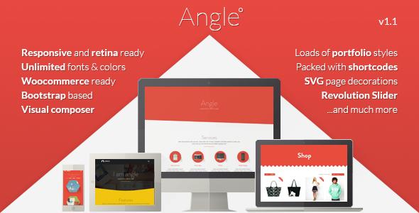 Angle Flat Bootstrap Responsive Portfolio Theme