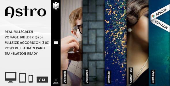 Astro ShowcasePhotography Responsive Portfolio WP Theme