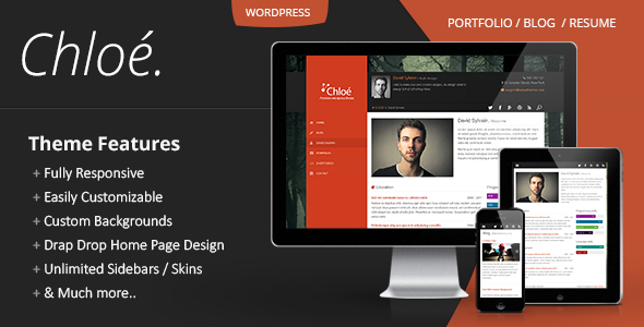 Chloe Personal WordPress Portfolio Theme