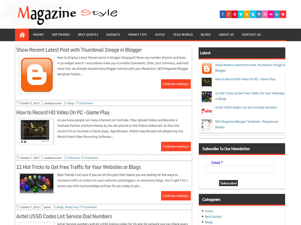 Freebie Magazine Style Wordpress Theme Xdesigns