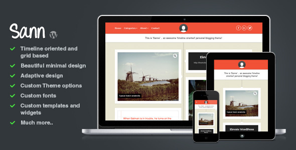 FREE And Premium WordPress Blog Themes XDesigns - Timeline blogger template