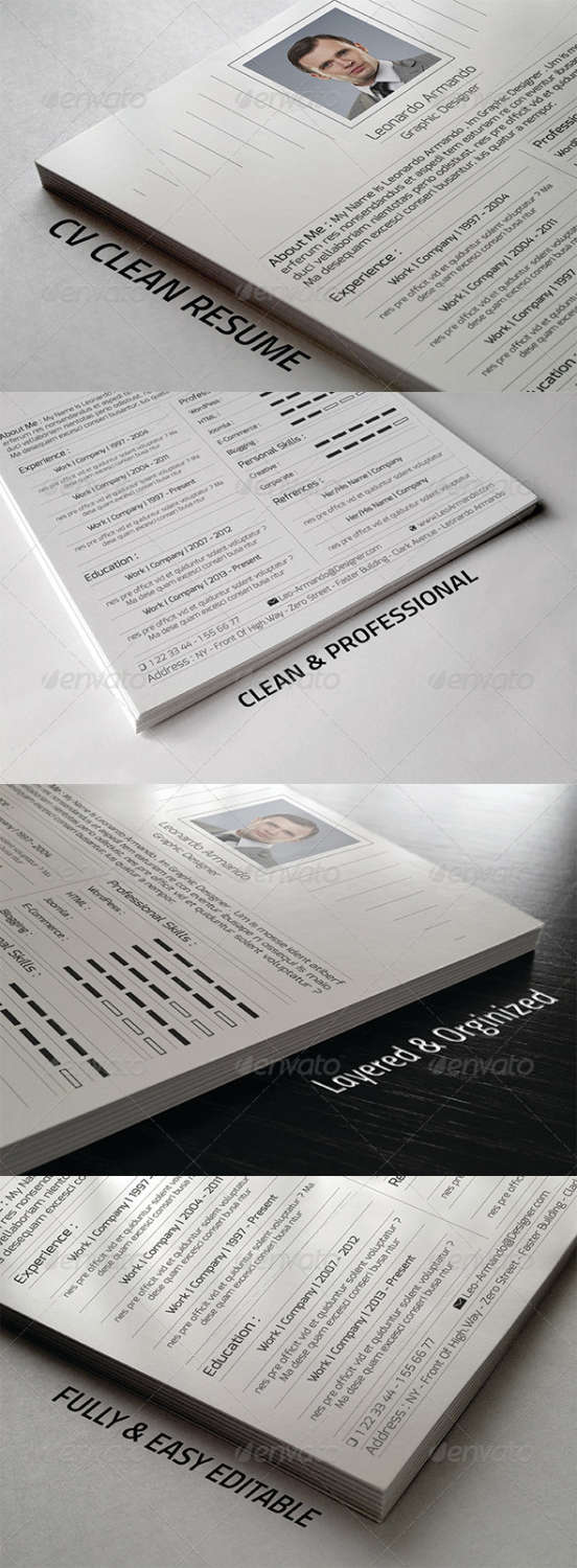 cv resume vol01 PSD template