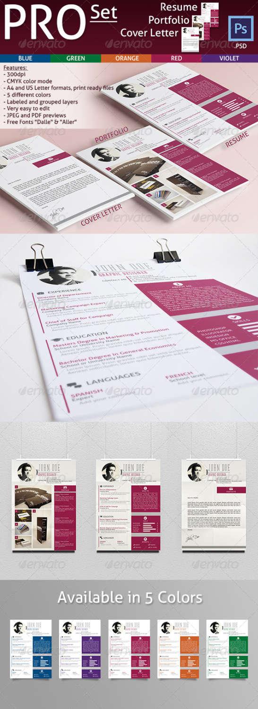 resume, portfolio cover letter PSD template