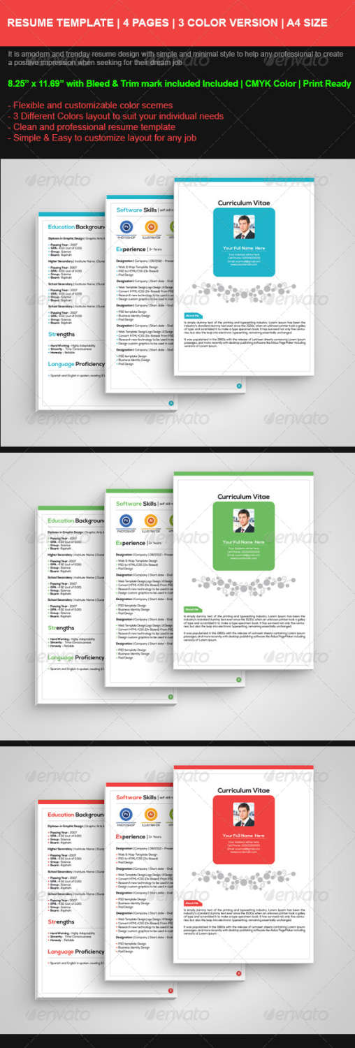 professional personal resume AI EPS JPG template