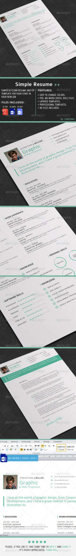 simple resume PSD template