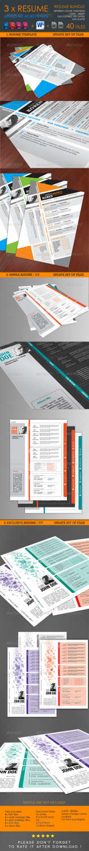 resume bundle vol01 INDD PSD template