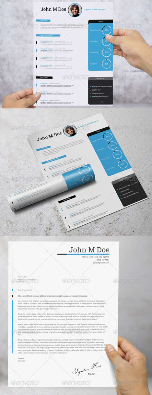 simple resumecv PSD template