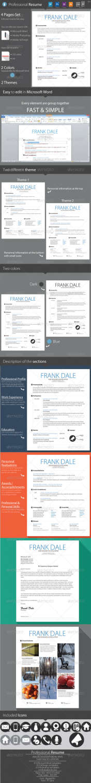 professional resume clean cv curriculum vitae AI INDD JPG PNG PSD template