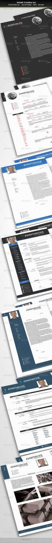 resume cv bundle 3in1 PSD template