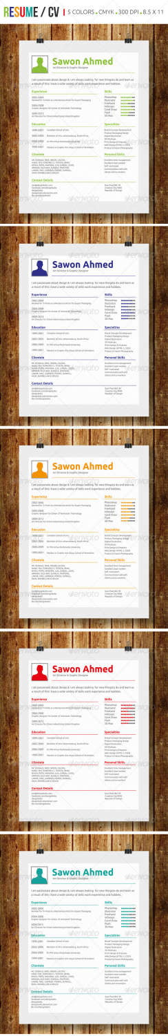 simple resume cv AI EPS template