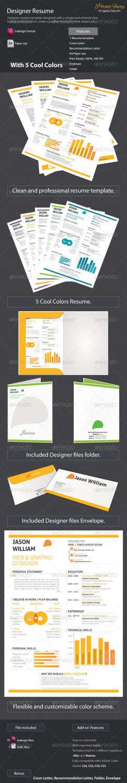 designer resume INDD template