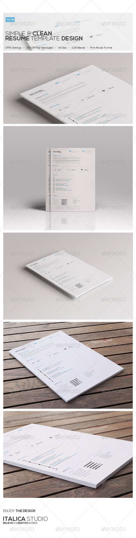 clean resume vol 04 PSD template