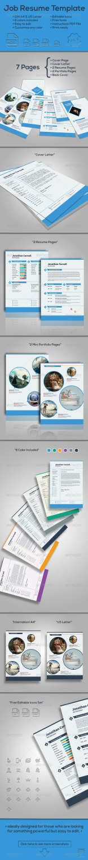 job resume vol2 AI INDD EPS PSD template