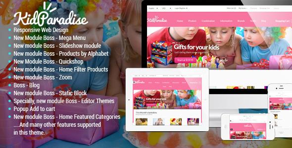 Opencart Kid Store Theme Kidparadise