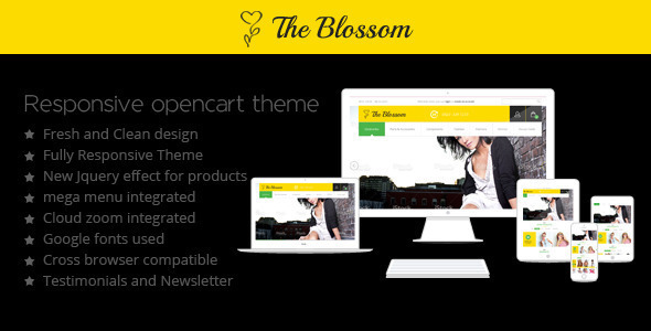 The Blossom Responsive Opencart Theme