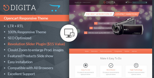 Digita Opencart Multipurpose Theme