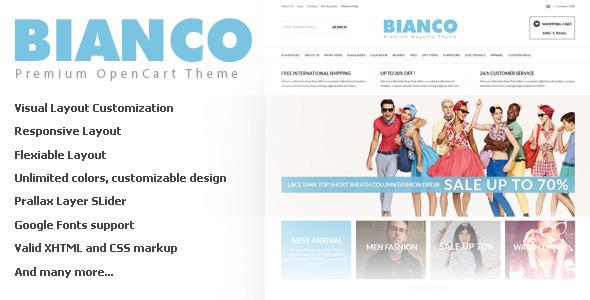 Bianco Opencart Responsive Theme