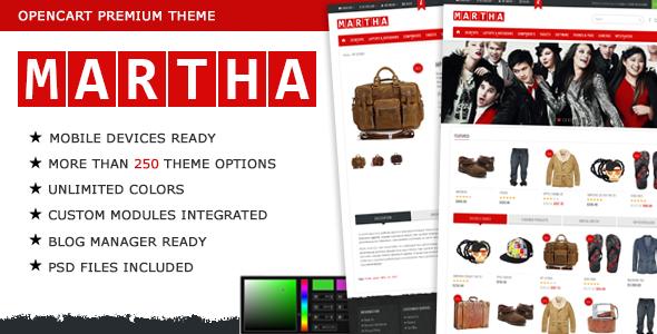 Martha Opencart Premium Theme