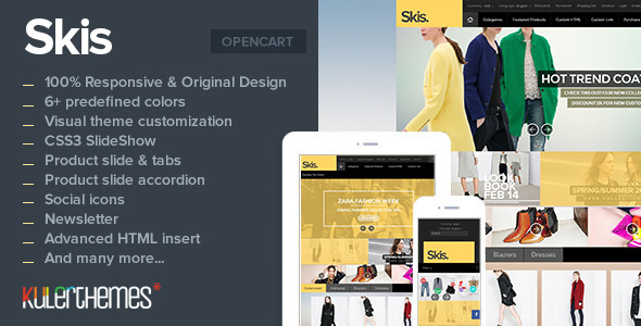 Skis Trendy Opencart Theme For Online Store